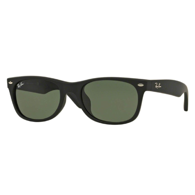Ray-Ban New Wayfarer (F) Authentic Sunglasses , Matte Black Crystal Green a803d3c42e55