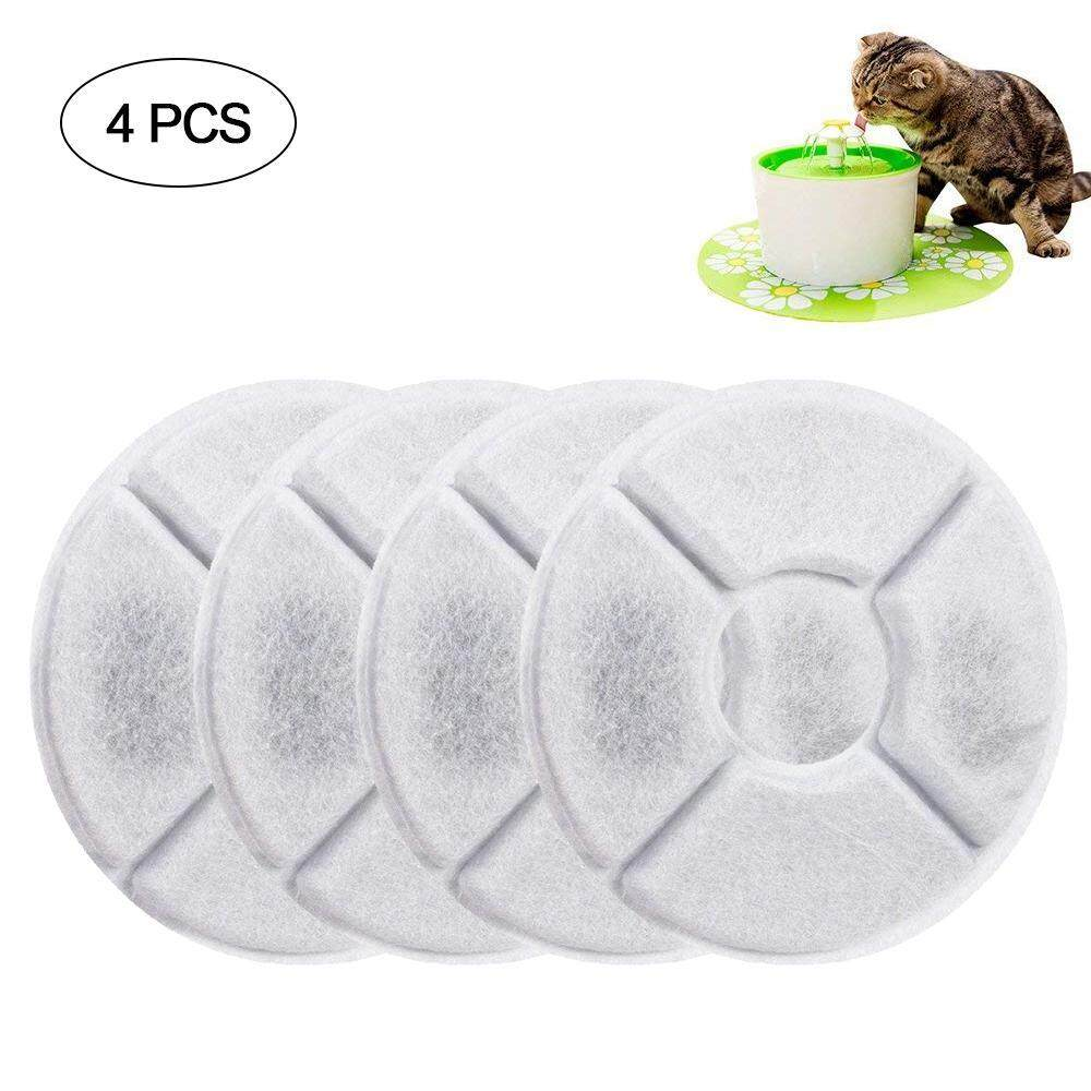 Ds-Mart Cat Fountain Filters, Pet Fountain Filter Activated Carbon Water Dispenser Filters 4 Pack, Compatible With Pet Flower Water Fountain Keeping Water Clear And Tasty For Pets Dogs And Cats By Ds-Mart.