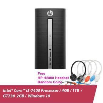 HP Pavilion 570-P024D Desktop (Z8F22AA#UUF) - Twinkle Black + Bundle HP H2800 Headset (Random Colour) + RM100 Shopping Voucher (Online Redeem)
