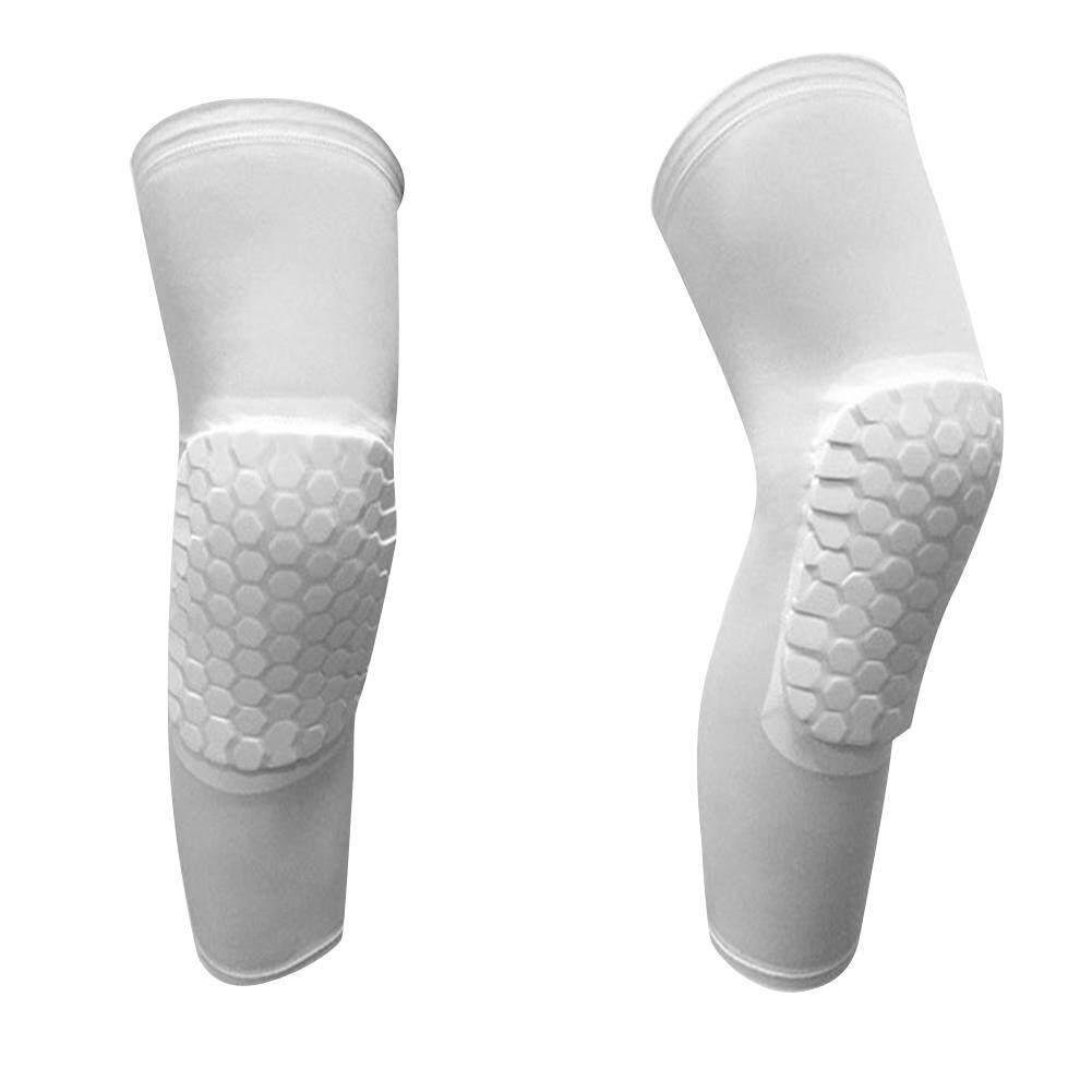 1 Pair Professional Compression Crashproof Antislip Knee Shin Sleeves Sports Basketball Kneepads Honeycomb Knee Pads Leg