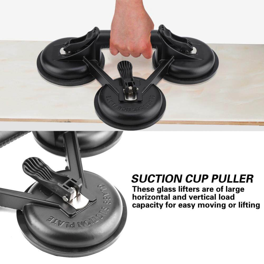 Aluminum Alloy Suction Cup Glass Lifter Puller for Moving Glasses Tiles Mirrors Black (#2)