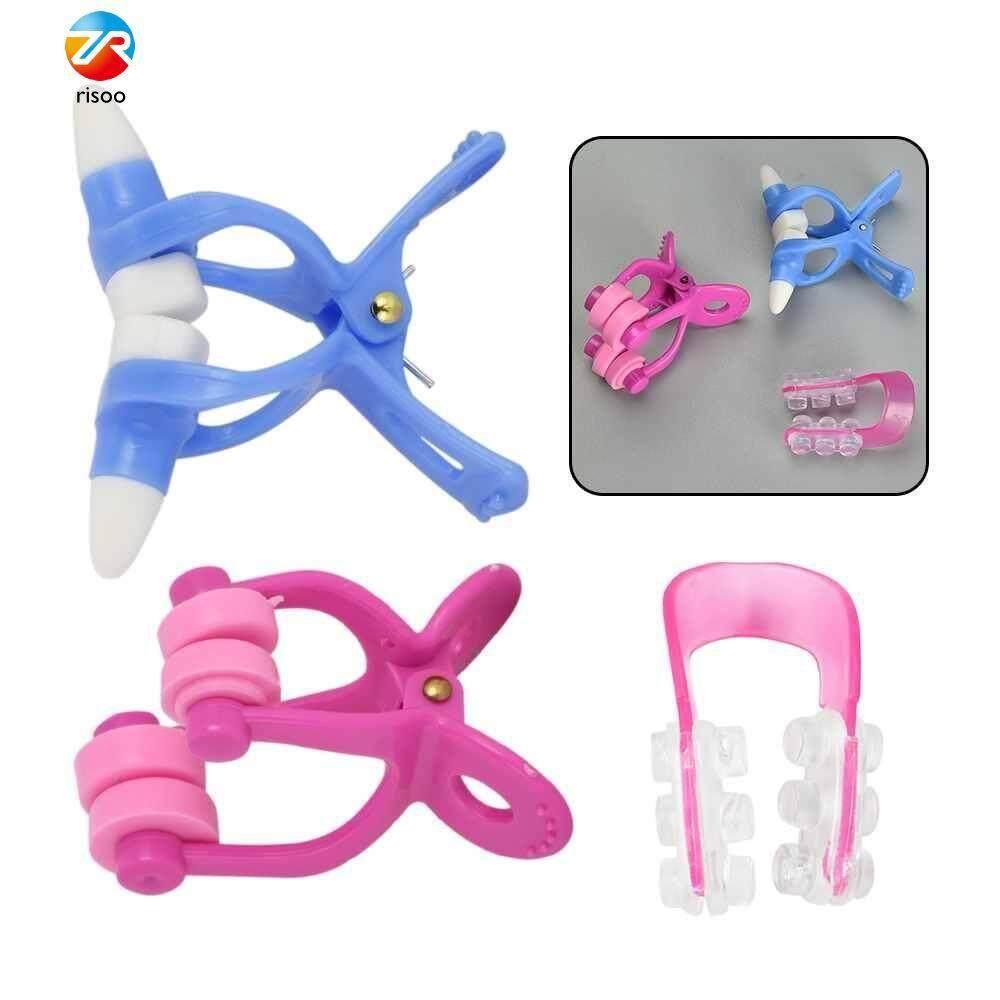 Risoo 3Pcs Nose Up Clip Bridge Lifting Shaping Shaper Clipper Straightening Beauty Nose Clip Facial Clipper