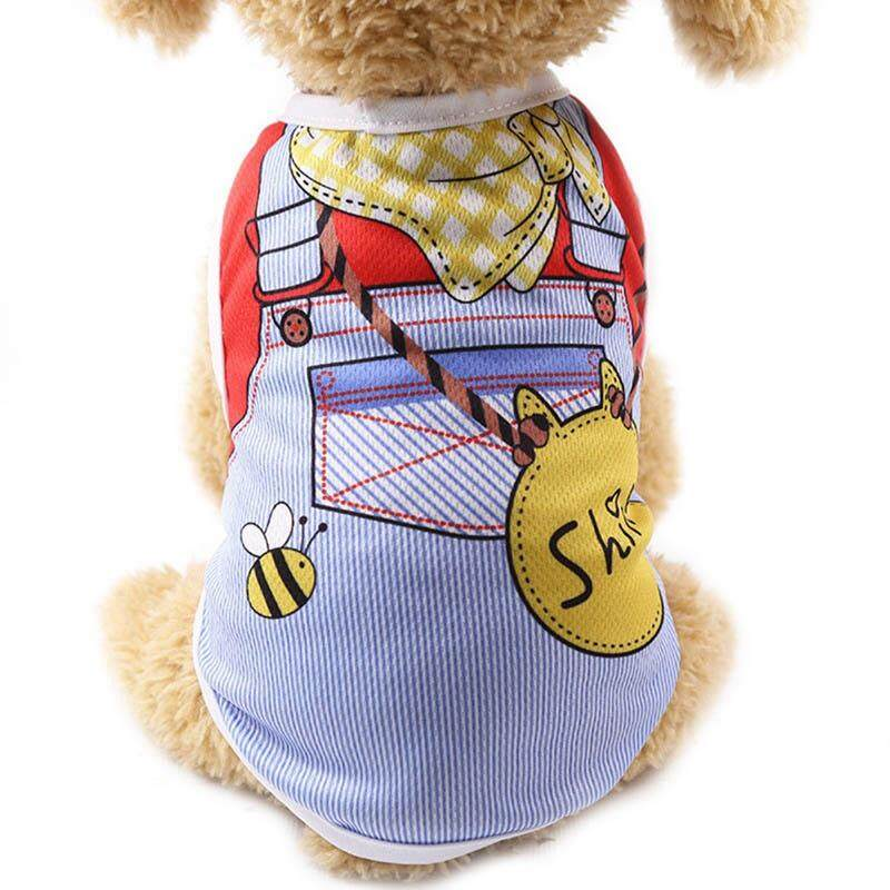 T-Shirt Small Dog Breathable Pet Clothes Cat Summer Teddy Apparel Puppy Pet  Various Vest 686e5027ffd3