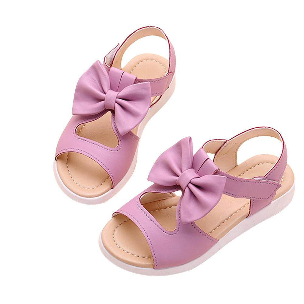 Summer Kids Children Sandals Fashion Bowknot Girls Flat Pricness Shoes By Miss Lan.