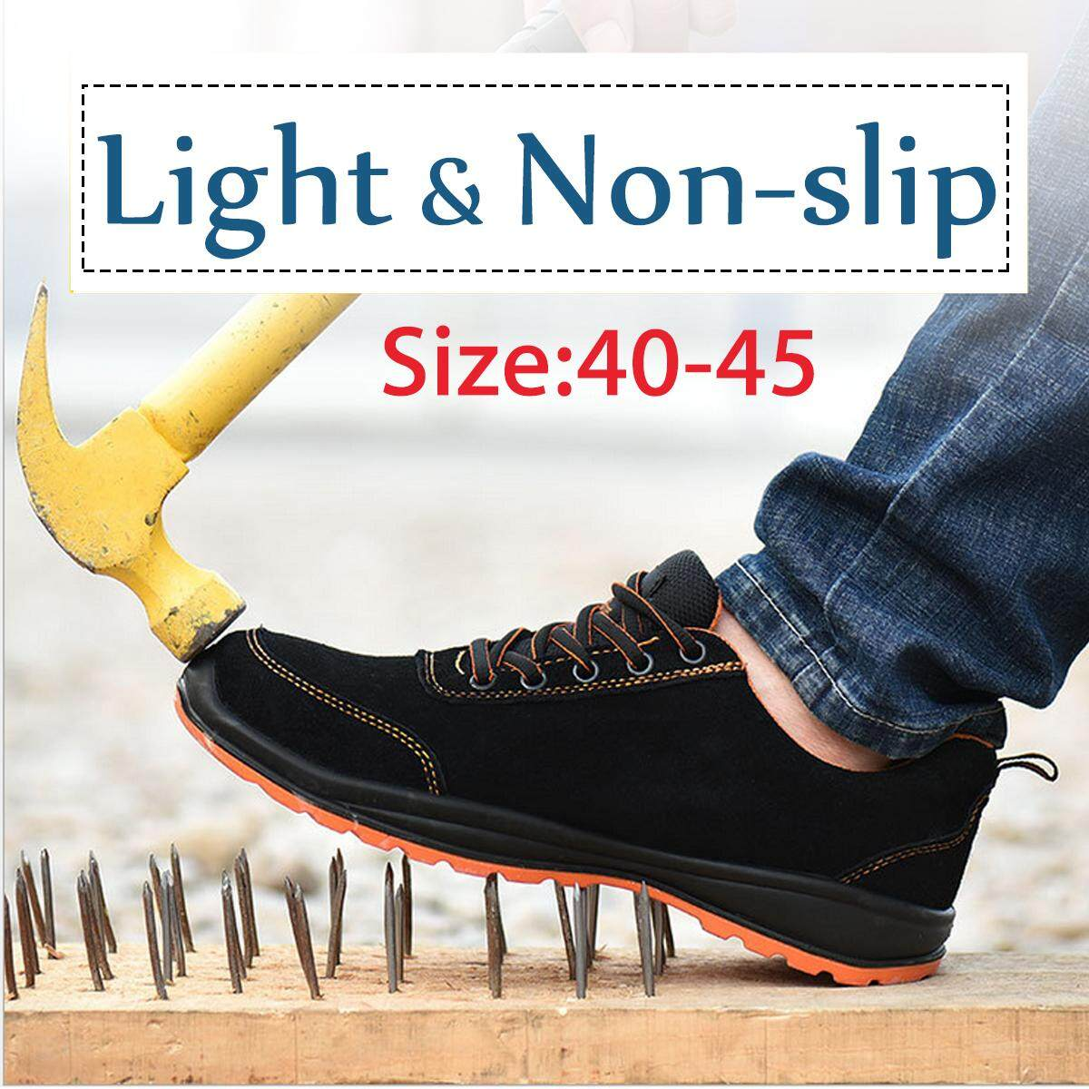 Man Safety Work Shoes Steel Toe Lightweight Fashion Shoes Hiking Climbing Shoes