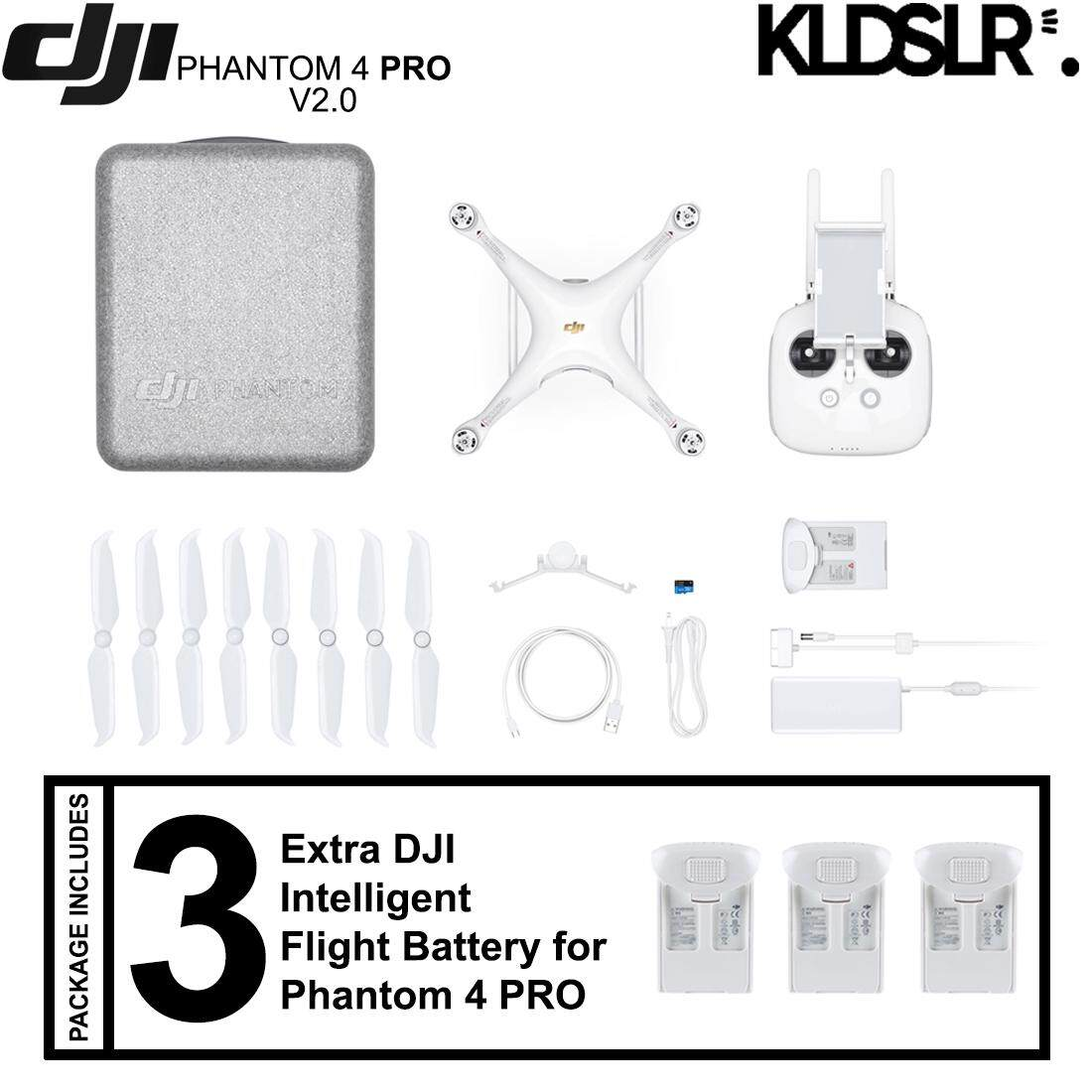 DJI Phantom 4 Pro+ Version 2.0 Quadcopter (FREE Extra 3 Original Batteries)