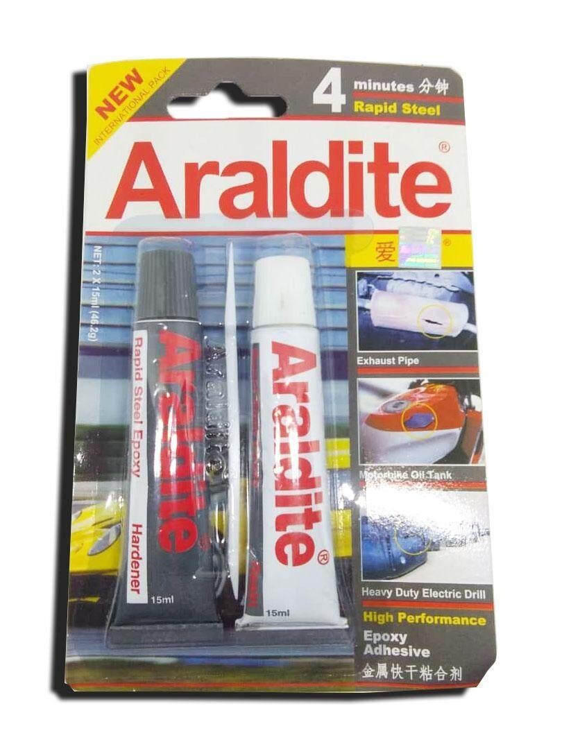 Araldite Rapid Steel 4 minutes Gam Tan (grey)