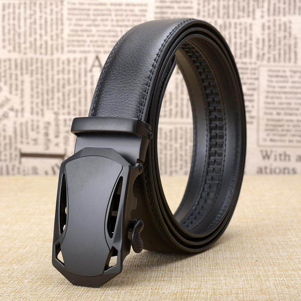 f791bf7b996 High Quality Men s Top Cowhide Genuine Leather Ratchet Dress Automatic  Buckle Belt Luxury Belts Business Belts