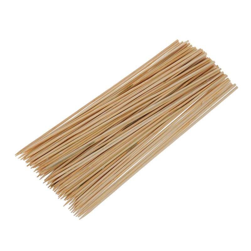 Camping Wooden Color Bamboo Bbq Skewers Barbecue Shish Kabob Sticks 95 Pcs By Sunshineyou.