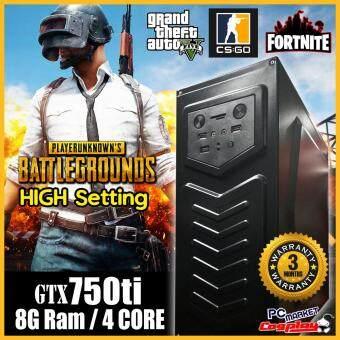 Gaming PC Desktop Fm2 4core 3.2GHz 8GB Ram GTX750 TI 2GD5 support PUBG GTX750ti ( 3month Warranty Refurbished)