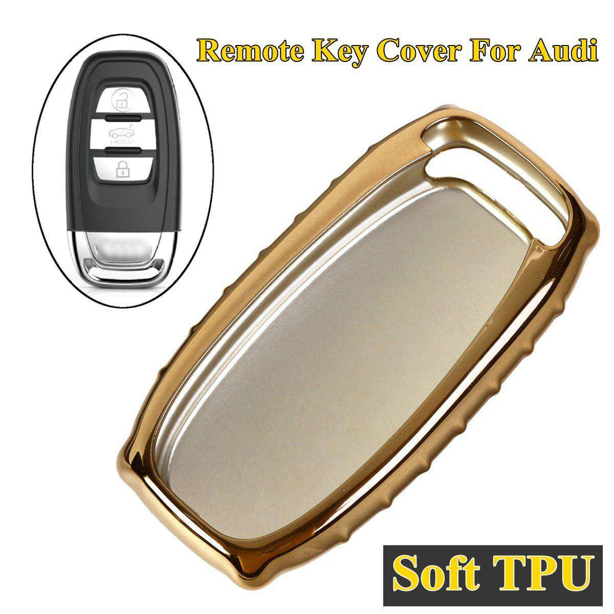 Tpu Remote Key Cover Case Shell For Audi A4 A5 A6 Q5 Rs7 S7 A7 A8 Q5 S5 S6 (gold) By Teamwin.