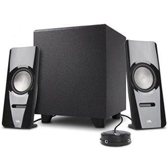 Cyber Acoustics 2.1 Bluetooth Speaker Sound System with Subwoofer - Computer and Home Audio Set for PC, TV, Stereo, Tablet, Smartphone and Gaming System (CA-SP26BT)