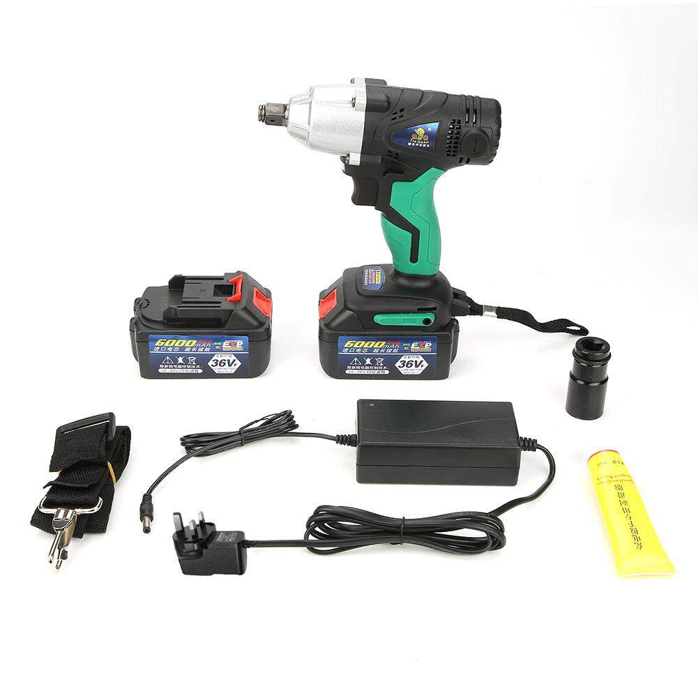 Brushless Cordless Impact Wrench 36VF/6000mAh Lithium Battery Power Tool Kit(220V UK plug)