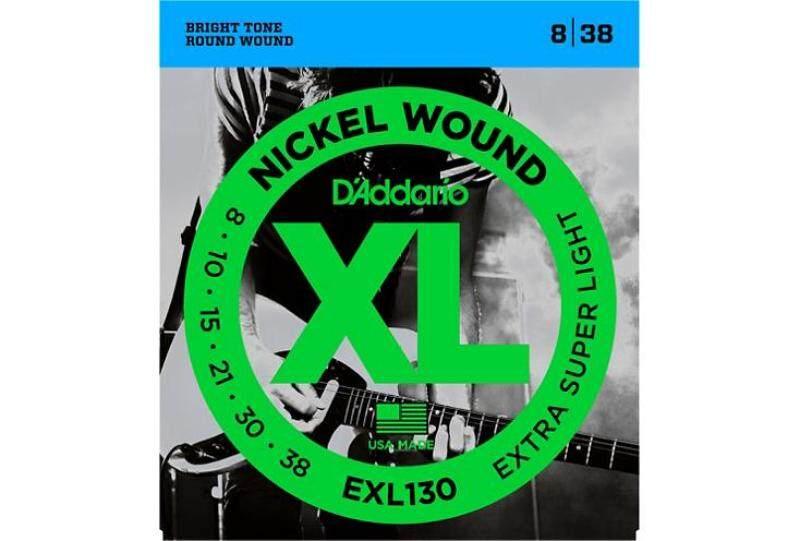 DAddario EXL130 Nickel Extra Super Light Electric Guitar Strings, Green Malaysia