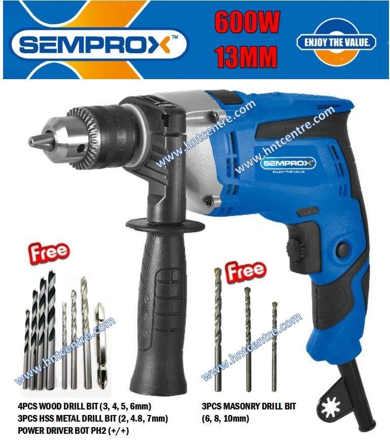 SEMPROX IMPACT DRILL 600W SID1302 C/W ACC
