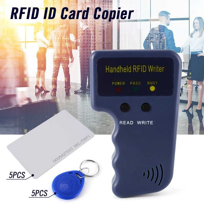 Handheld RFID ID Card Copier Reader Writer with 5 Writable Tags 5 Cards
