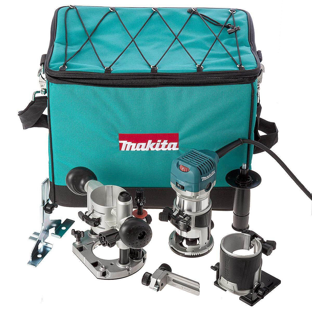 Makita 710W Router / Laminate Trimmer Kit Set, Router / Trimmer