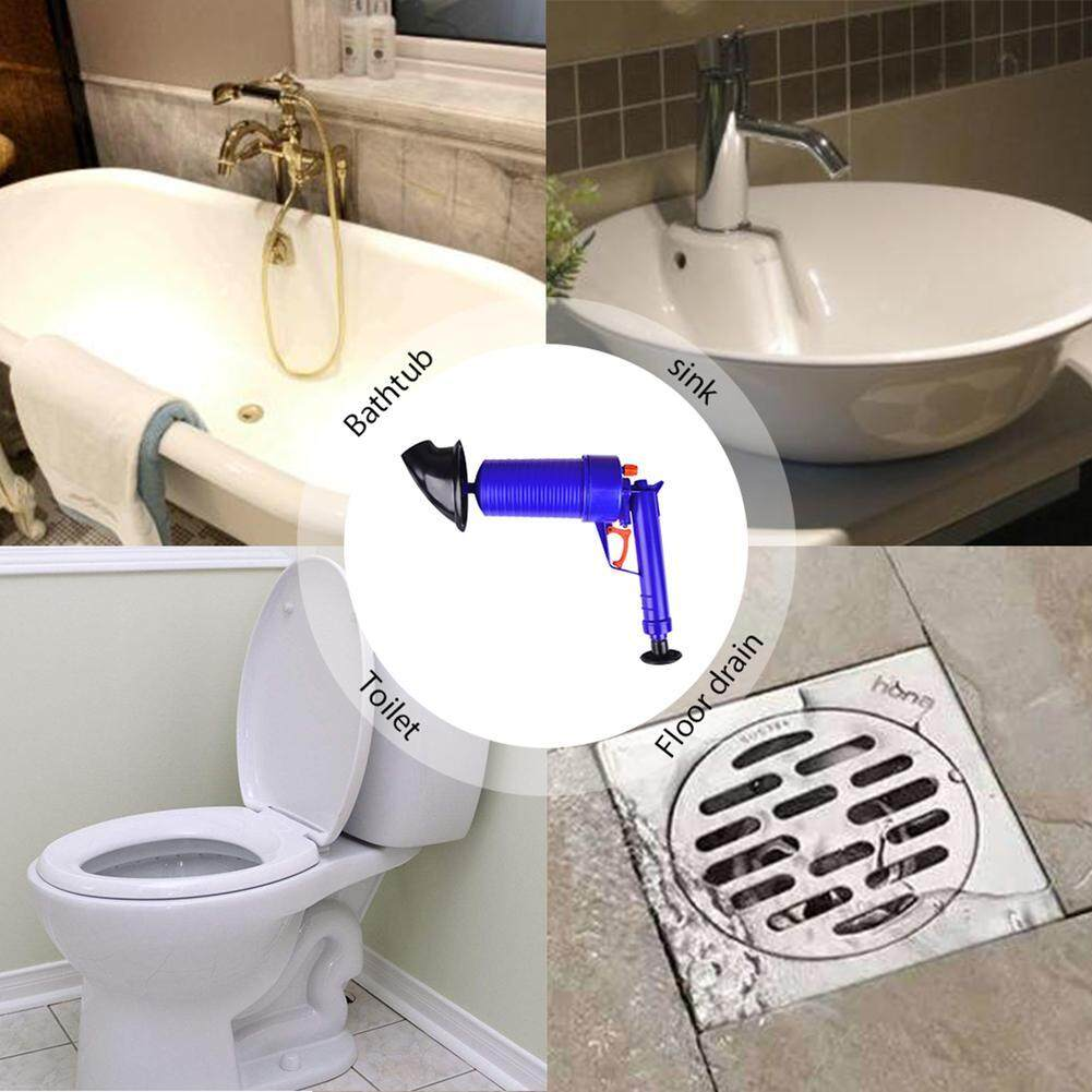 OrzBuy The Toilet Plunger, 2018 AIR PUMP BLASTER , High Pressure Air Drain Blaster Pump Plunger Sink Pipe Clog Remover By SmartPro Toilet Accessories Toilet Plungers