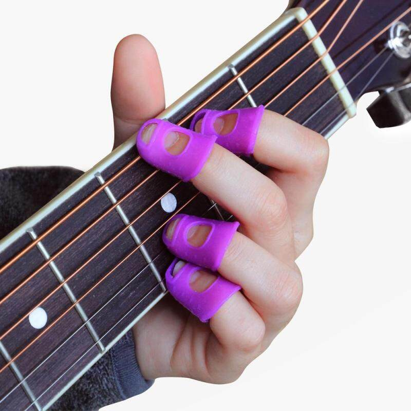 Fingertip Guard Silicone Finger Protectors for Acoustic Guitar Ukulele Bass Beginners Painless Playing Malaysia