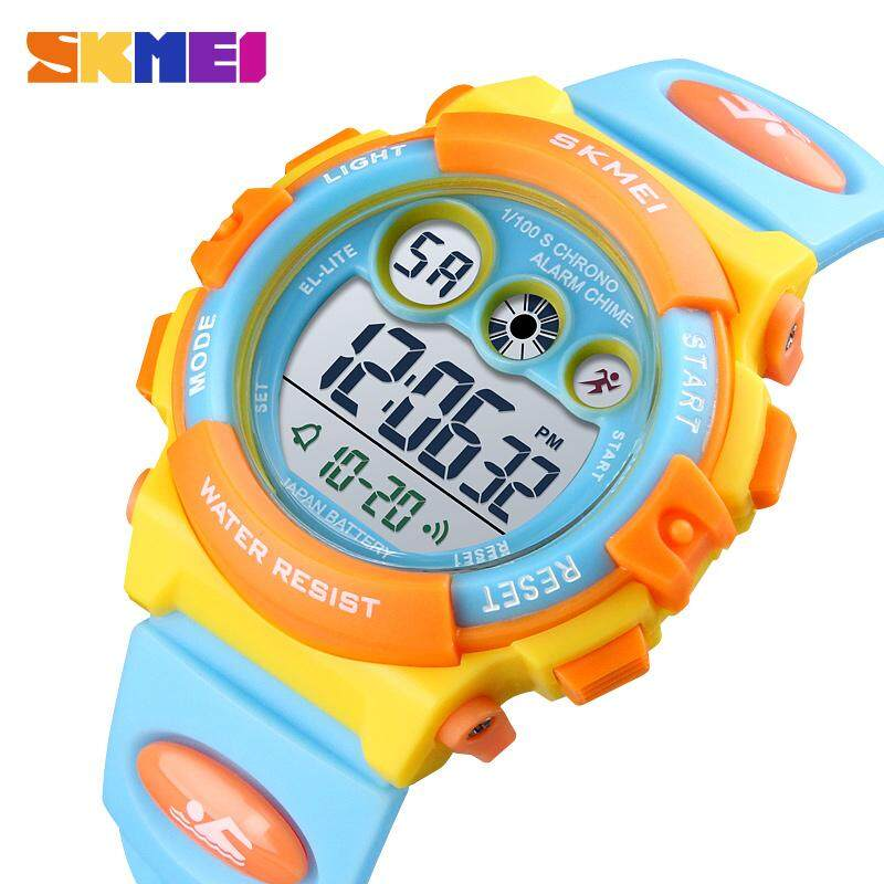 SKMEI Brand Sport Children Watch Waterproof LED Digital Watches Multifunction Sports Electronic Watch for Kids Boys Girls Gifts 1451 Malaysia