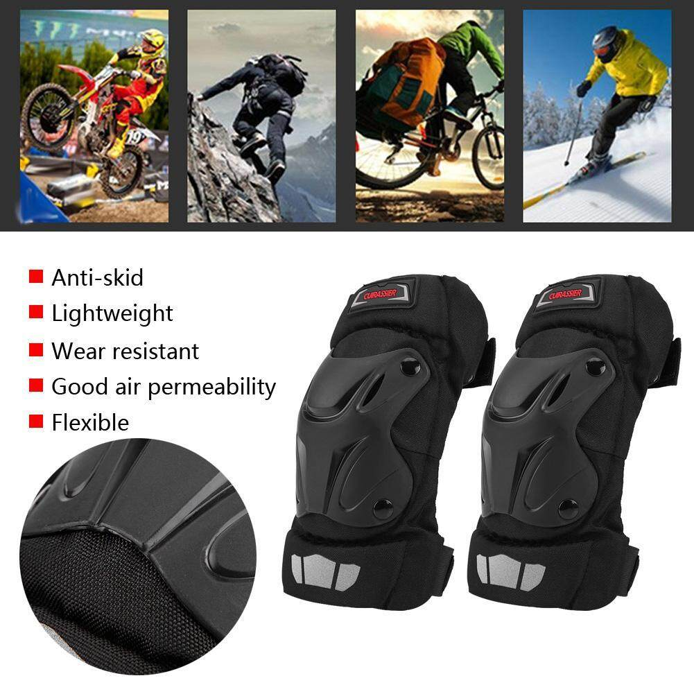 2Pcs Motorcycle Racing ABS Plastic Protective Guard Gear Elbow Pads Protector