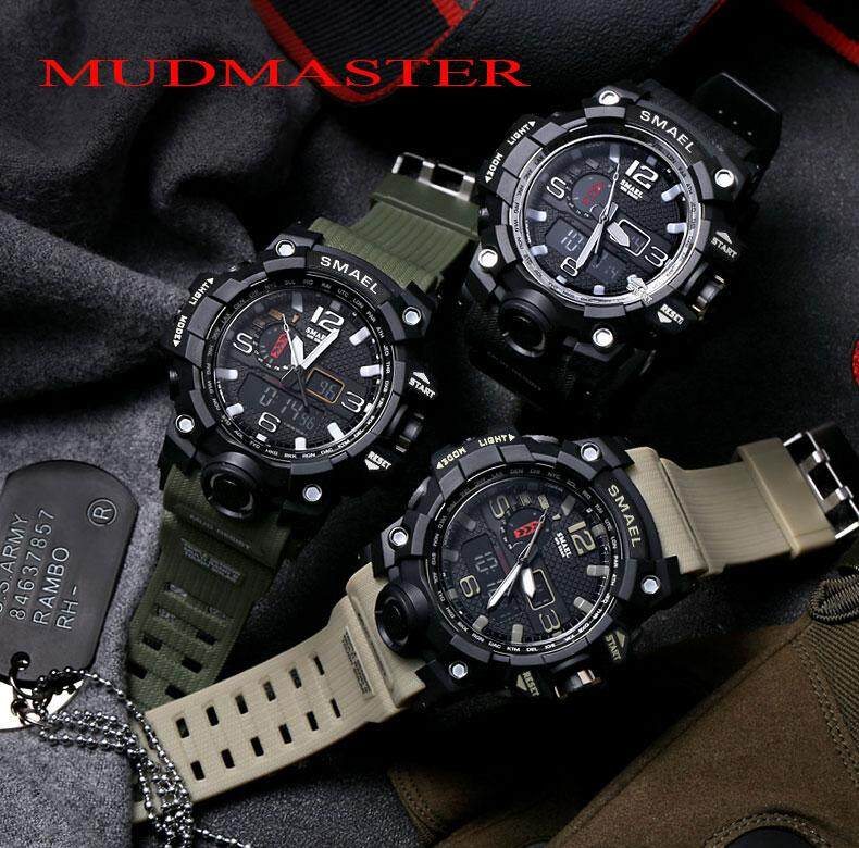 Watches Digital Watches Top Brand Men Sports Watches Dual Display Analog Digital Led Electronic Quartz Wristwatches Waterproof Swimming Military Watch Choice Materials