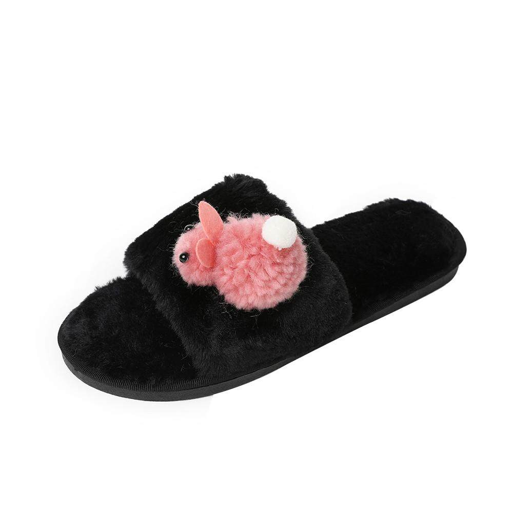 169a94572f3 (Audestore) Women Cute Cartoon Doll Flat Bottom Non-slip Wearable Home Fur  Cotton