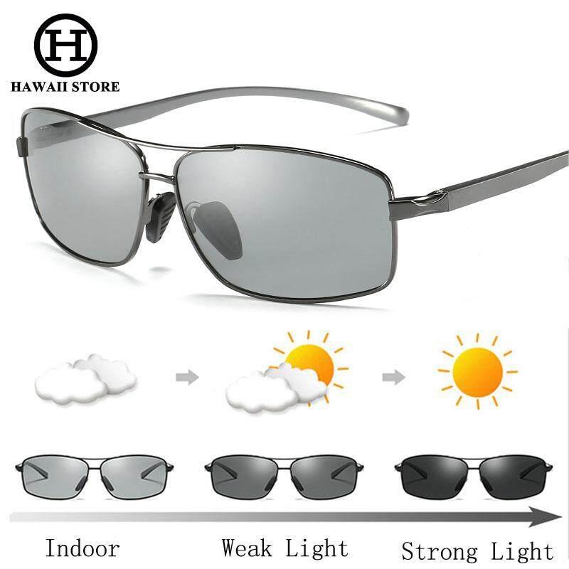 50c46d25ba HAWAII Photochromic Sunglasses Men Polarized Discoloration HD Goggles Male  Anti Glare Driving Glasses Brand Design Eyewear