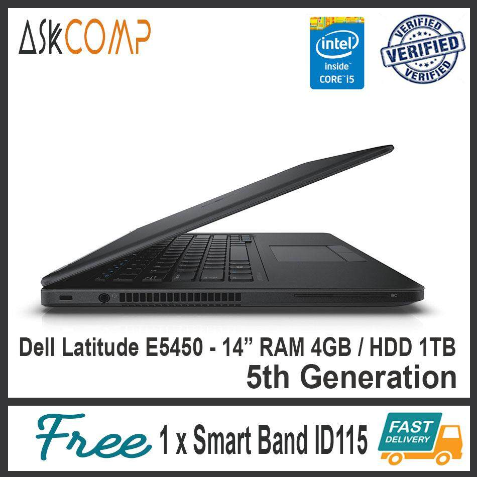 [Refurbished] Dell Latitude E5450(5th Gen) / 2.7GHz / RAM 4GB / HDD 1TB / 6 Month Warranty Malaysia