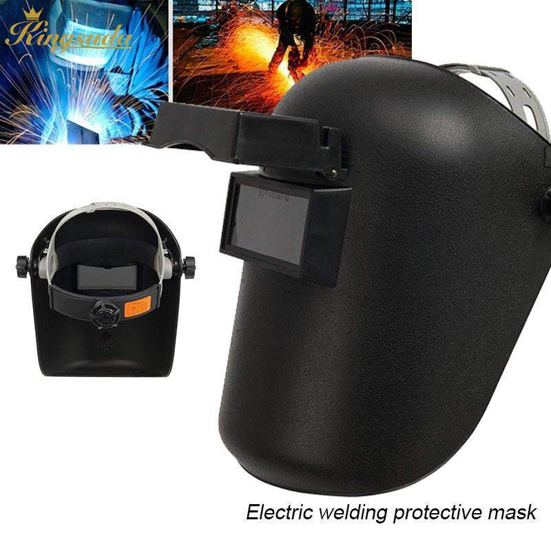 Kingsuda Welder Mask Welding Helmet Protective Adjustable Black Sparkproof