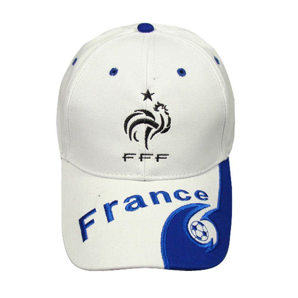 Sunyoo-2018 Russia World Cup Football Fans Hats Headband With Colorful National Flag Headwear Baseball Hat-French White By Sunyoo.