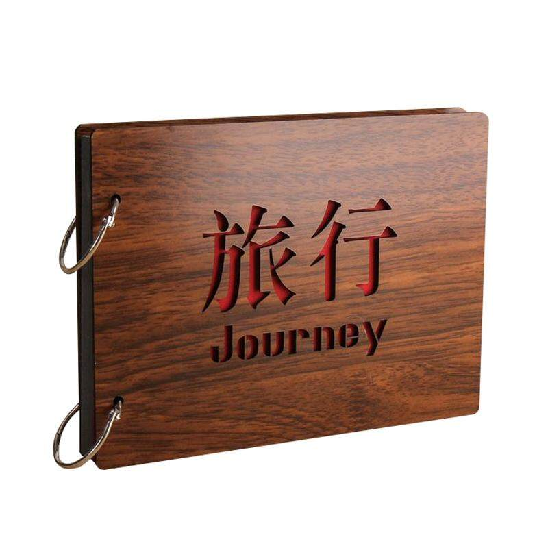 8 Inch Redwood Cover Albums Handmade Loose-Leaf Pasted Photo Album 30 Pages Free Shipping Personalized Photo Album(journey) By Xhkjin.