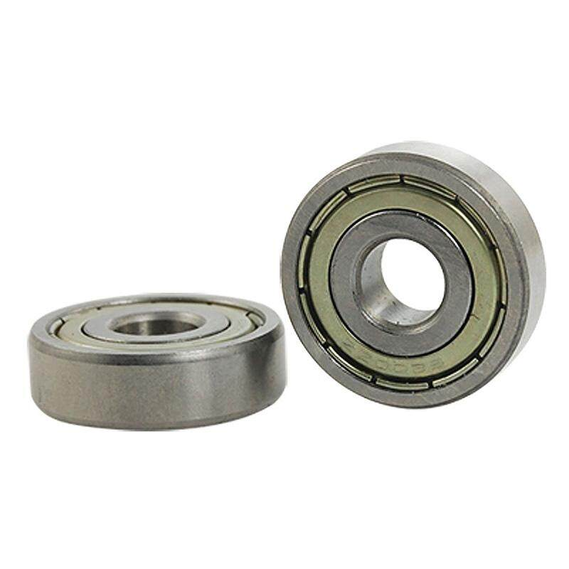 2 Pcs 6200ZZ 10mm x 30mm x 9mm Double Shielded Ball Bearings