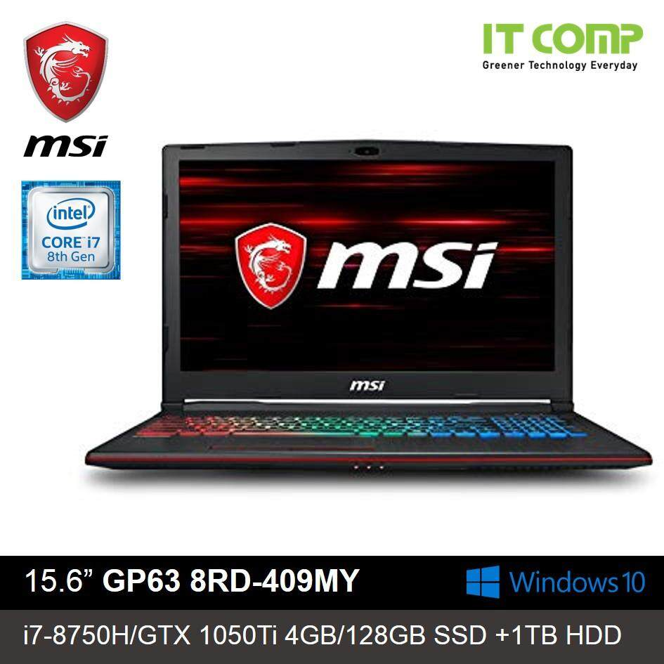 MSI GP63 8RD-409MY Leopard  15.6 Gaming Laptop ( i7-8750H / GTX 1050Ti 4G / 8GB / 128GB+1TB / WIN 10 ) Malaysia