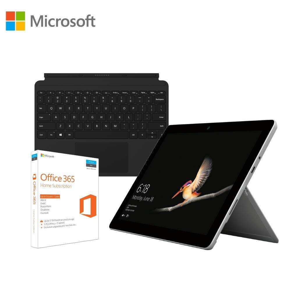 Microsoft Surface Go Intel Pentium Gold 8GB RAM / 128GB SSD + Type Cover + Office 365 Home Bundle Malaysia