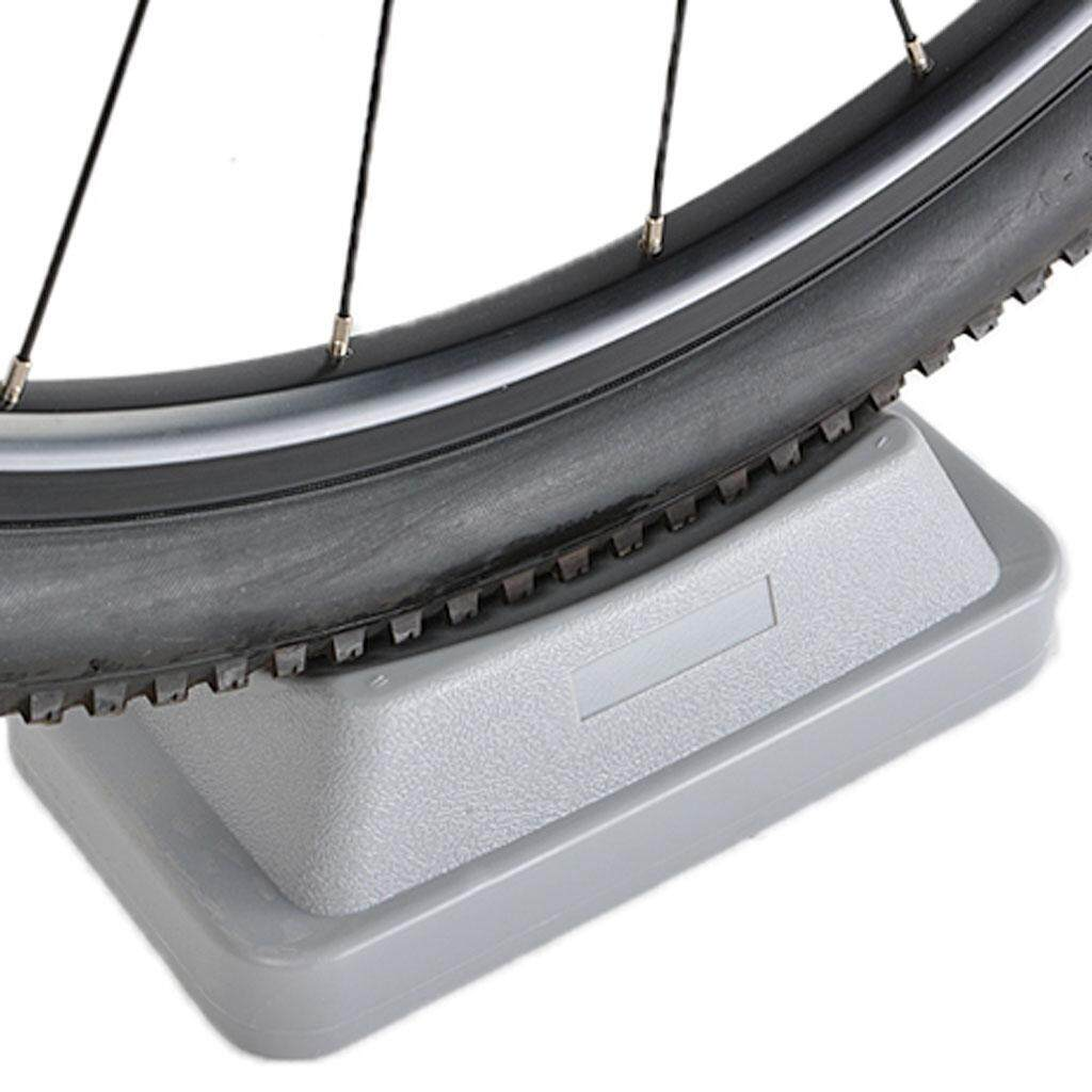 Miracle Shining Mtb Front Wheel Riser Block Stabilize Mat For Indoor Bicycle Trainers Grey By Miracle Shining.