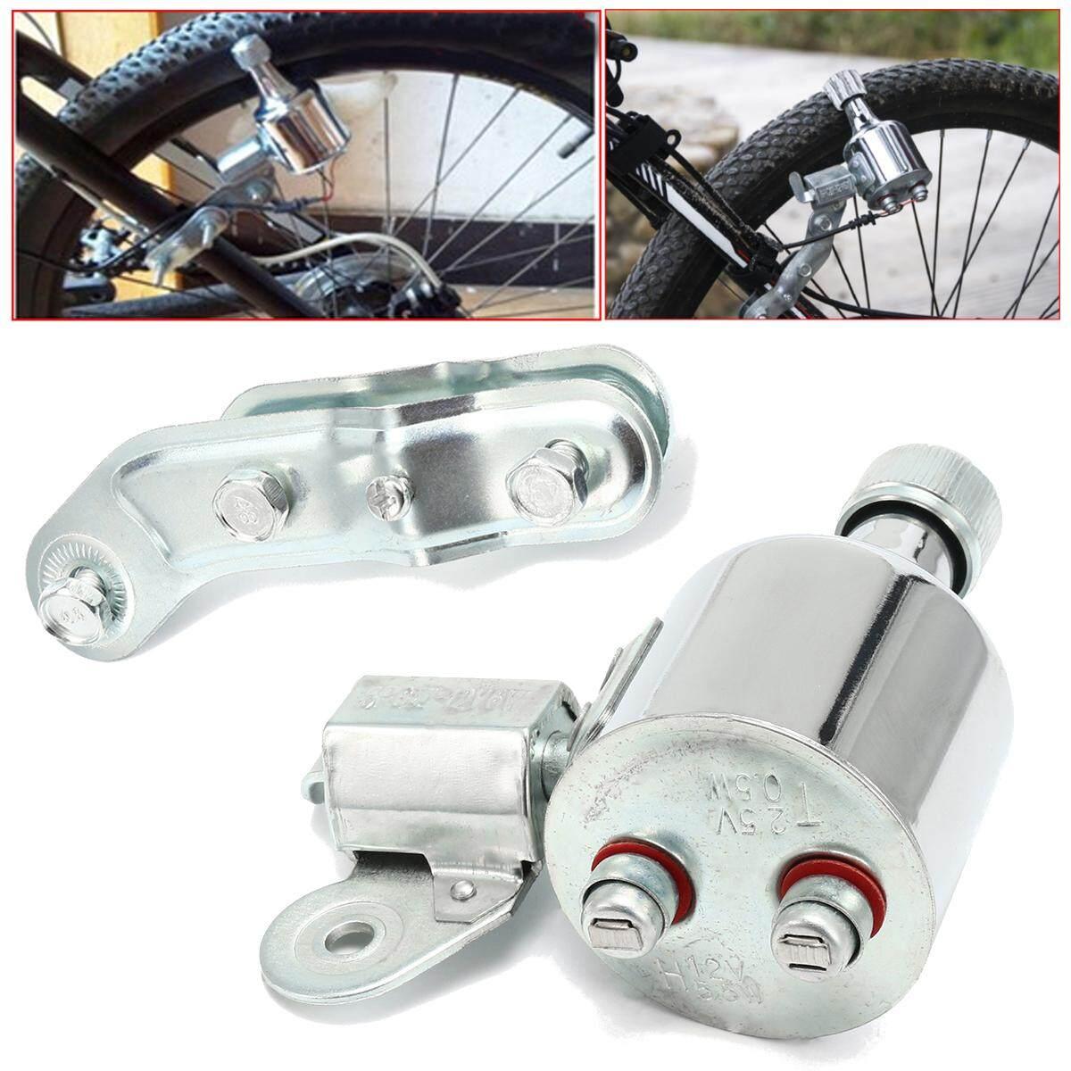 New Bicycle Light Generator 12V 6W Dynamo Motorized Friction Head Rear Light Kit