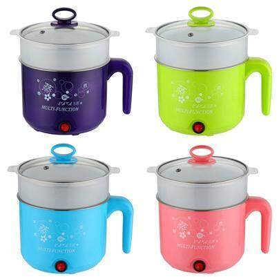 1.8l Multifunction Stainless Steel Electric Cooker With Steamer For Tea And Soup Pink/green/blue By Fly Automart.