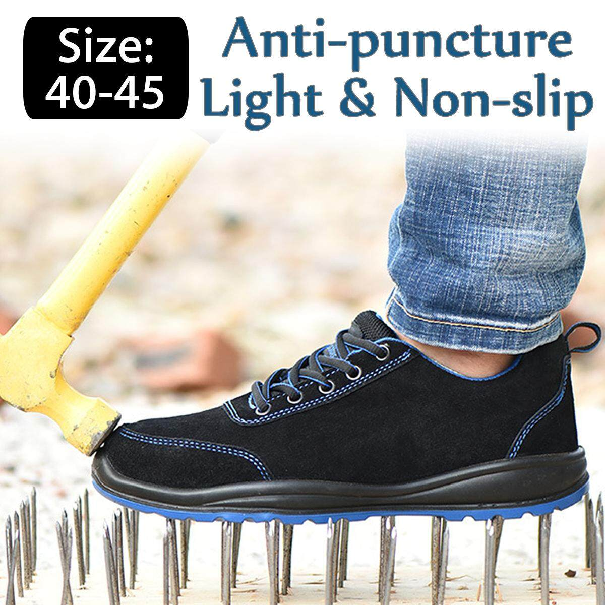 【Free Shipping + Flash Deal】Mens Safety Work Shoes Steel Toe Cap loafers Fashion Trainer Climbing New Boots