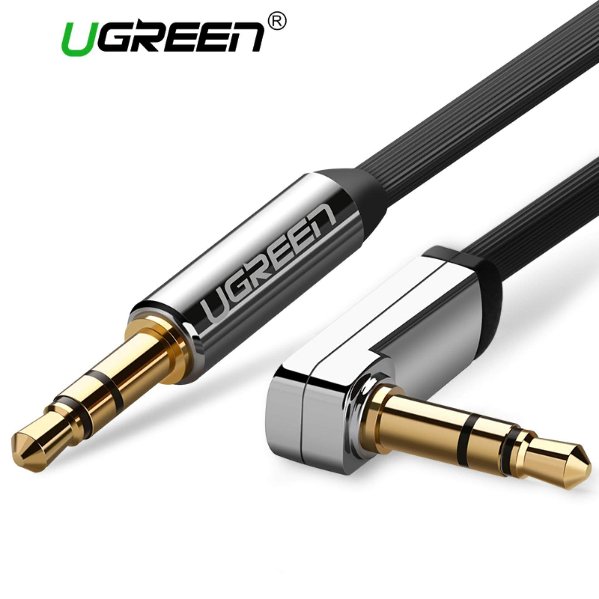 Shop Home Audio Cables 2 Buy At Best 25 Female Mono Jack Wiring Ugreen Meter 35mm Auxiliary To Cable 90 Degree Right Angle For