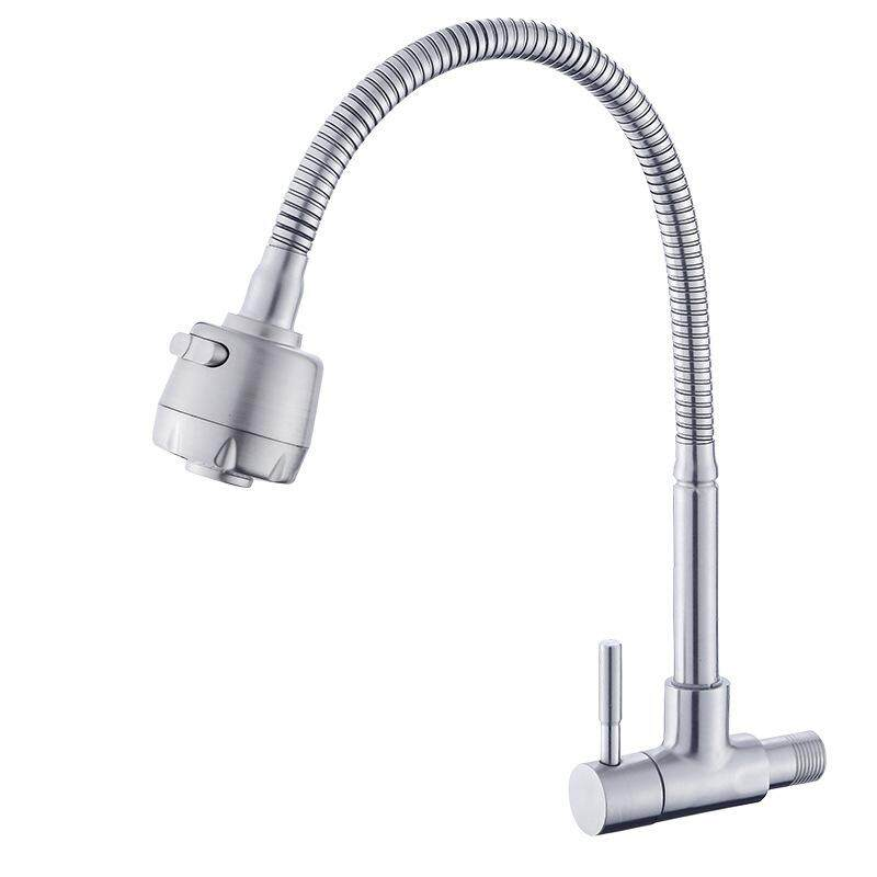 304 stainless steel kitchen faucet into the wall a single cold sink sink faucet