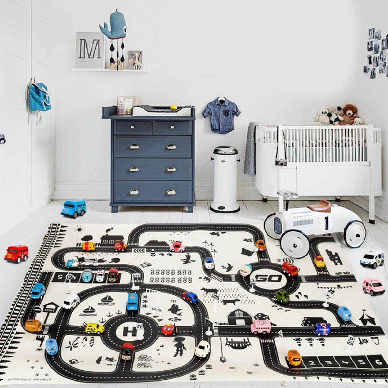 130x100cm Kids Children Traffic Road Play Playing Game Mat Educational Toy With 18pcs Signs For Home Party Birthday Christmas Gift By Jelly Store.