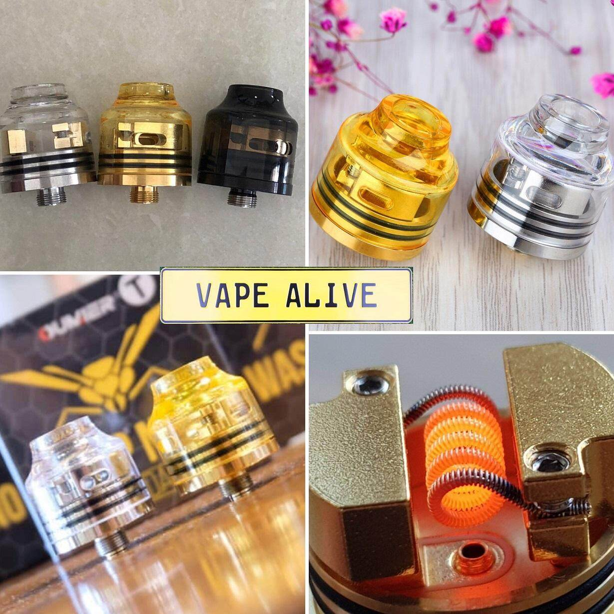 Shop Electronic Cigarettes Atomizers Tanks Buy Authentic Wasp Nano Rda 22mm By Oumier Transparent Cap C Dripper