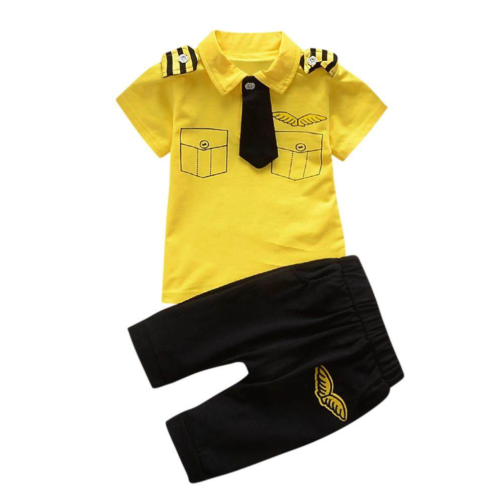 2019 Katata Boys Clothes Set Newborn Infant Baby Boys Girls Gentlemantie Tops Shirt Pants 2pcs Outfits Set By Katata.