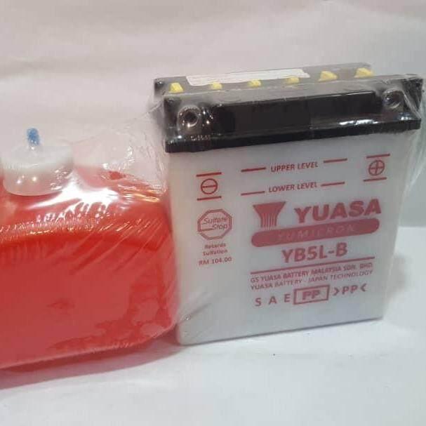 Yuasa Battery • (yb5l-B) Yamaha Legenda-110/srlz/sre/ego/nouvo/lc135 By K.k Motorspareparts.