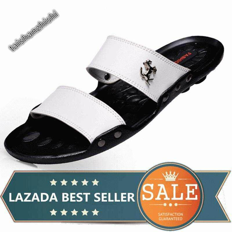 942a39ce54b Men Slippers Summer Fashion Beach Flip Flops Sandals (White)