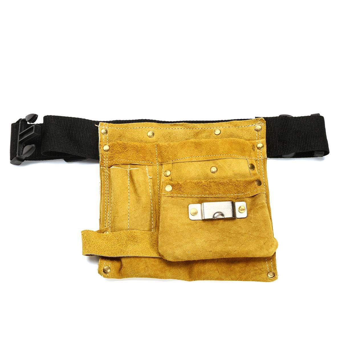 Leather Tool Belt Nail Pouch Bag Holder Apron Carpenter Electrician