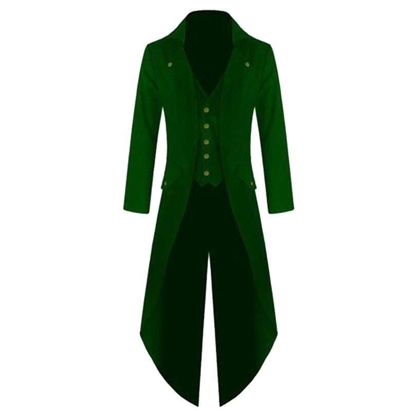 0c04df1a1ba yunmiao Men Coat Fashionable Punk Retro Tailcoat Jacket Gothic Frock Coat  Tops Size M-
