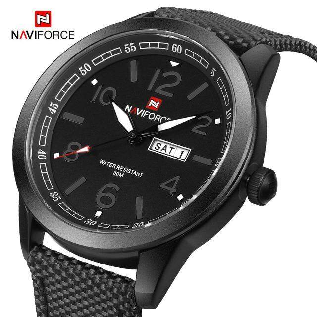 Naviforce Youth Fashion Brand Mens Sports Watch Quartz Canvas Automatic Date Day Week Watch Gift Mens High Quality Mens Watch Malaysia