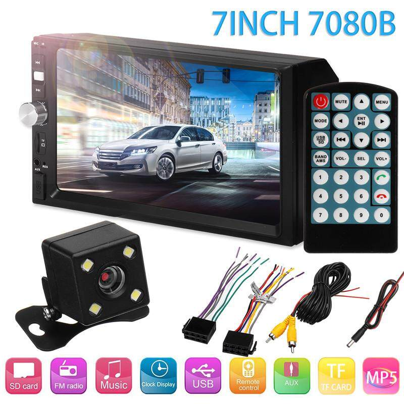 7080b 7inch 2din Car Mp5 Player Bluetooth Touch Screen Stereo Radio Hd+rear Camera By Audew.